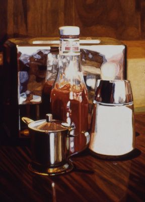 Condiments with Toaster -